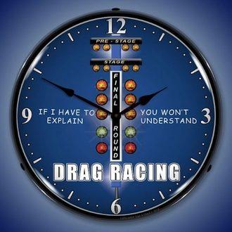 Racing Theme Wall Clocks, LED Lighted