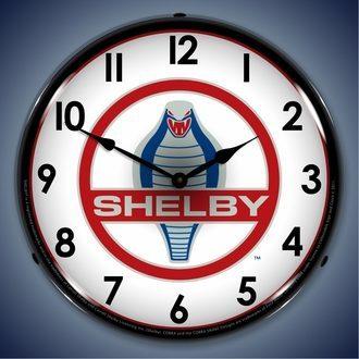 Shelby LED Lighted Clocks: Cobra, GT500, Super Snake