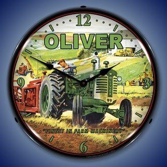 Vintage Farm Tractor Wall Clocks, LED Lighted: Oliver, Farmall, I&H