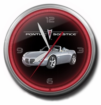 Pontiac Solstice Neon Clocks, 20 Inch, High Quality