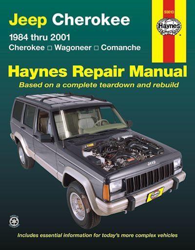 Jeep Cherokee, Wagoneer, Comanche Repair Manual 1984-2001