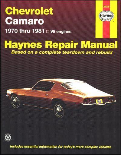Chevy Camaro Repair Manual 1970-1981