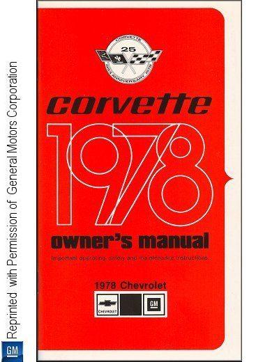 1978 Chevrolet Corvette Owner's Manual