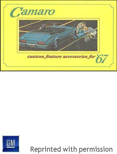 1967 Camaro Custom Feature Accessories Brochure