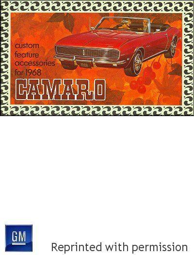 1968 Camaro Custom Feature Accessories Brochure