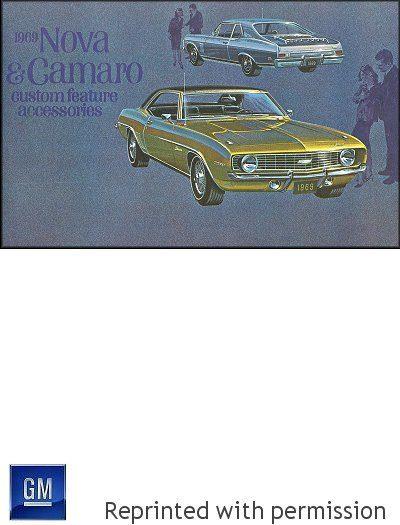 1969 Nova, Camaro Custom Feature Accessories Brochure