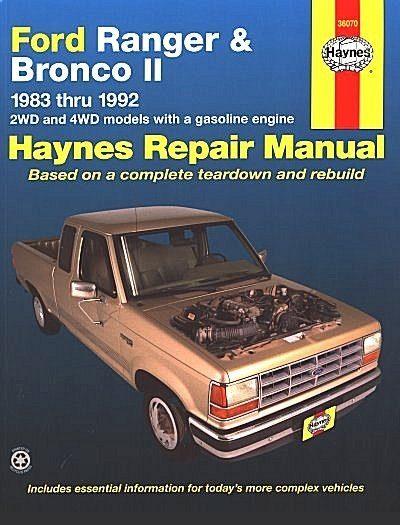 Ford Ranger, Bronco II 2WD, 4WD Repair Manual 1983-1992