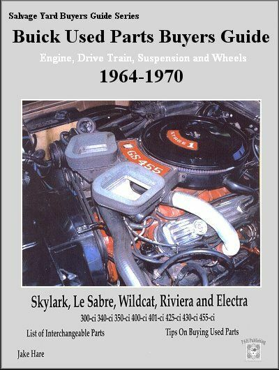 Buick Used Parts Buyers Guide 1964-1970