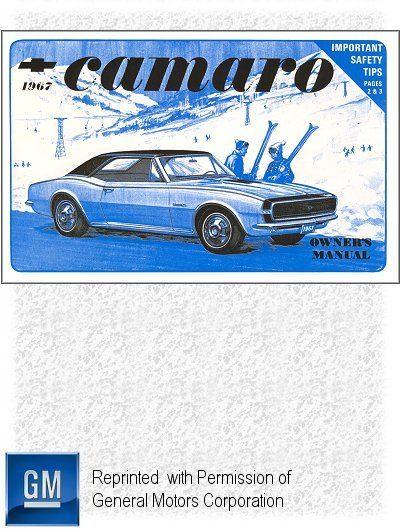 1967 Chevrolet Camaro, Camaro SS Owner's Manual
