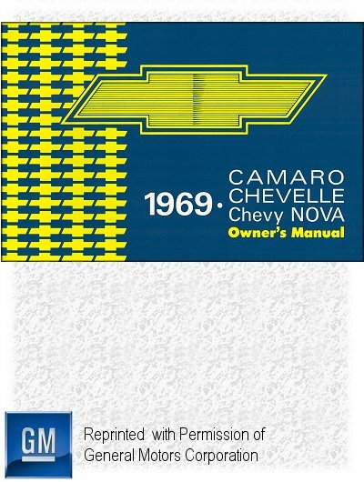 1969 Chevrolet Camaro, Chevelle, El Camino, Chevy Nova Owner's Manual