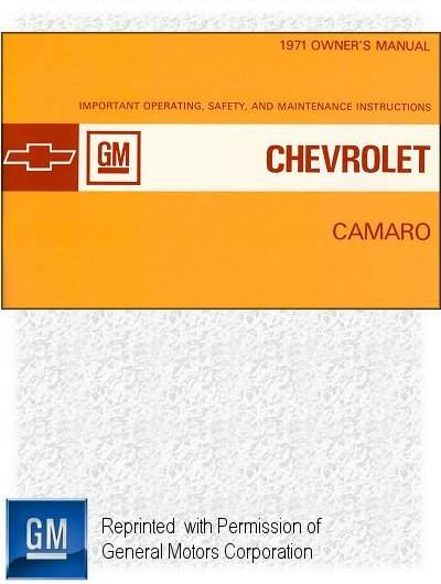 1971 Chevrolet Camaro Owner's Manual