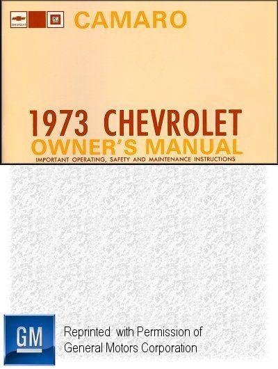 1973 Chevrolet Camaro Owner's Manual