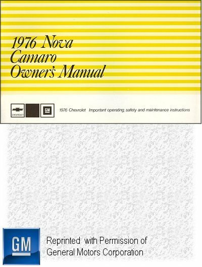 1976 Chevrolet Camaro Owner's Manual