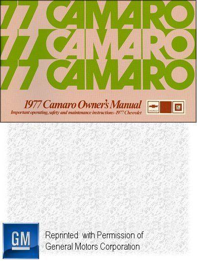 1977 Chevrolet Camaro Owner's Manual