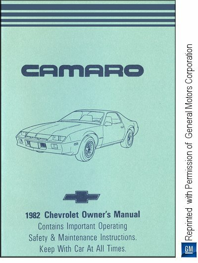 1982 Chevrolet Camaro Owner's Manual