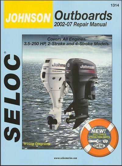Johnson Outboards Repair Manual 3.5-250 HP, 2-Stroke, 4-Stroke Models 2002-2007