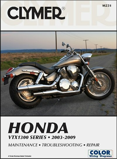 Honda VTX1300 Series Repair Manual 2003-2009