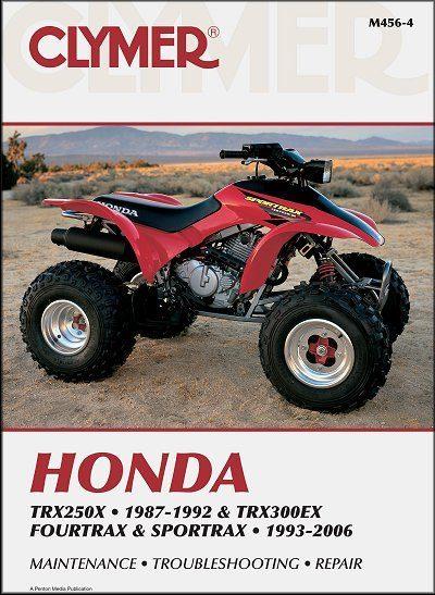Honda TRX250X 1987-1992, TRX300EX Fourtrax, Sportrax ATV 1993-2006 Repair Manual