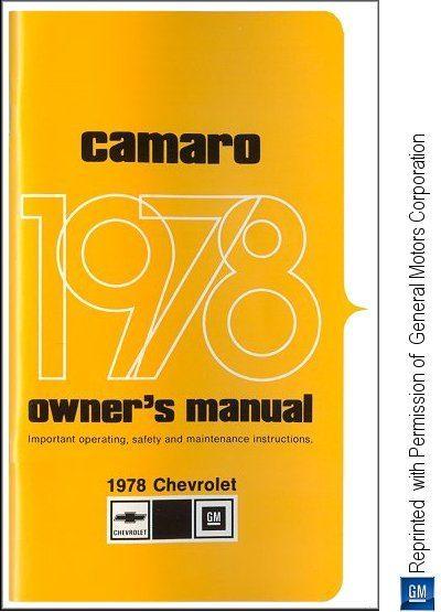 1978 Chevrolet Camaro Owner's Manual