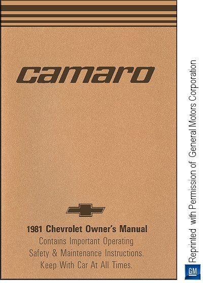 1981 Chevrolet Camaro Owner's Manual