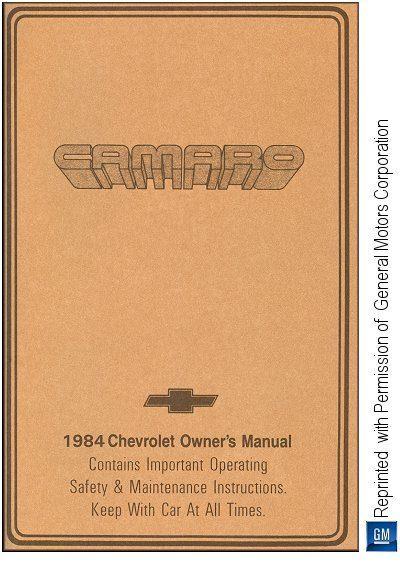 1984 Chevrolet Camaro Owner's Manual