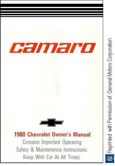 1980 Chevrolet Camaro Owner's Manual