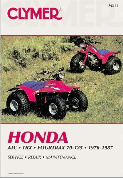 Honda ATC70, ATC90, ATC110, ATC125, Fourtrax 70, 125, TRX125 ATV Repair Manual 1970-1987