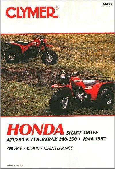 Honda TRX200, ATC250, Fourtrax 250 ATV Repair Manual 1984-1987