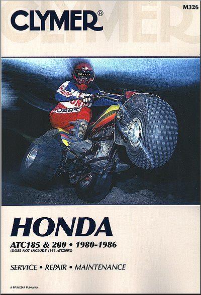 Honda ATC185, ATC200 ATV Repair Manual  1980-1986