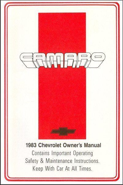 1983 Chevrolet Camaro Owner's Manual