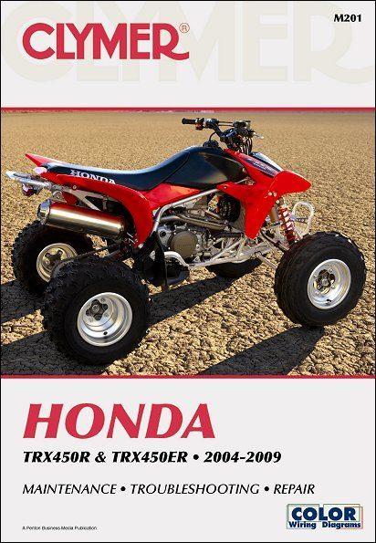 Honda TRX450R, TRX450ER ATV Repair Manual 2004-2009