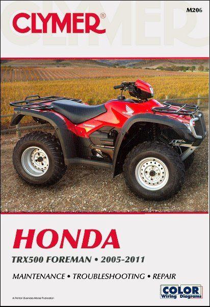 Honda TRX500 Foreman ATV Repair Manual 2005-2011