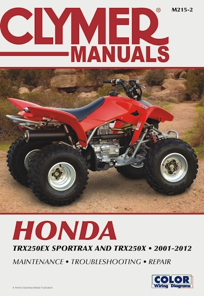 Honda TRX250EX Sportrax and TRX250X ATV Repair Manual 2001-2012