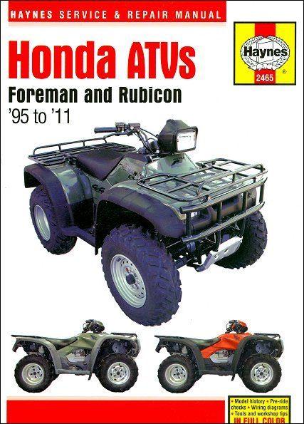 Honda Foreman, Rubicon Repair Manual 1995-2011