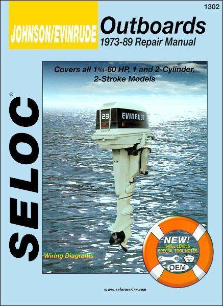 Johnson Evinrude Outboard 1.25-60 HP Repair Manual 1973-1989