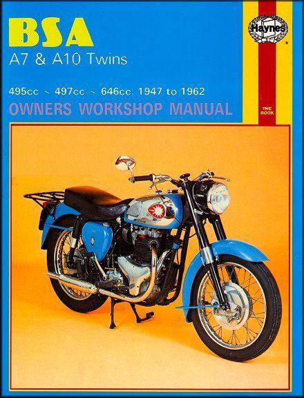 BSA A7, A10 Twins Repair Workshop Manual 1947-1962