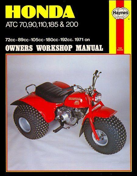Honda ATC70, 90, 110, 185, 200 ATV Repair Manual 1971-on