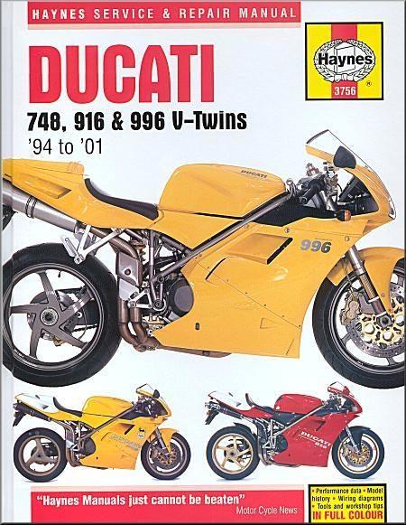 Ducati 748, 916, 996 Repair Workshop Manual 1994-2001