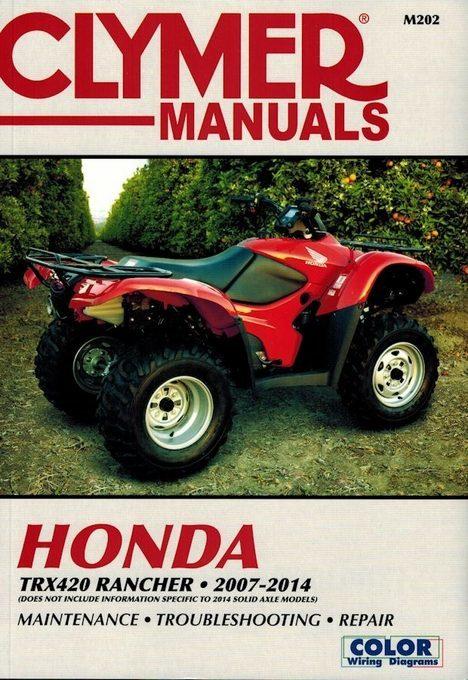 Honda TRX420 Rancher Repair Manual (2007-2014)