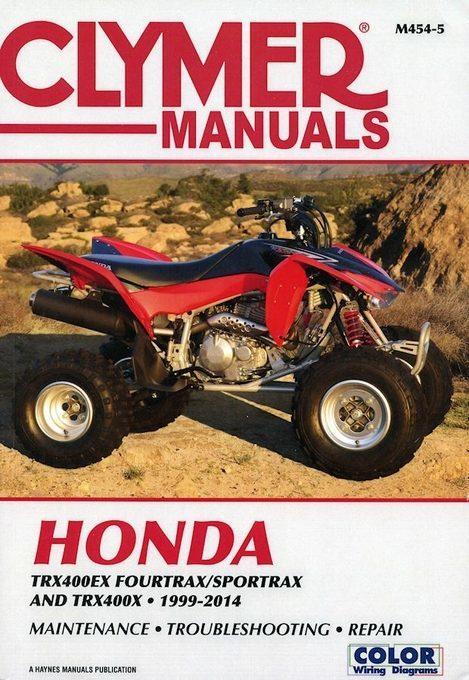 Honda TRX400EX Fourtrax / Sportrax, TRX400X Repair Manual 1999-2014