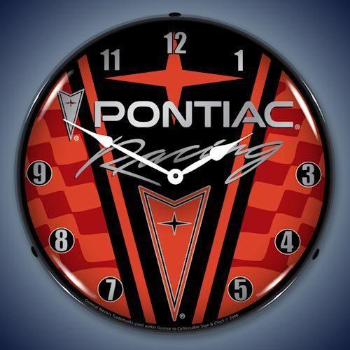 Pontiac Racing LED Lighted Clock