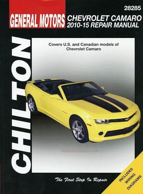 Chevrolet Camaro Repair Manual 2010-2015