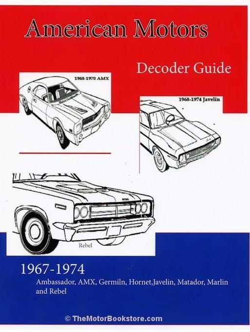 AMC Decoder Guide 1967-1974: AMX, Javelin, Hornet, Gremlin, more...
