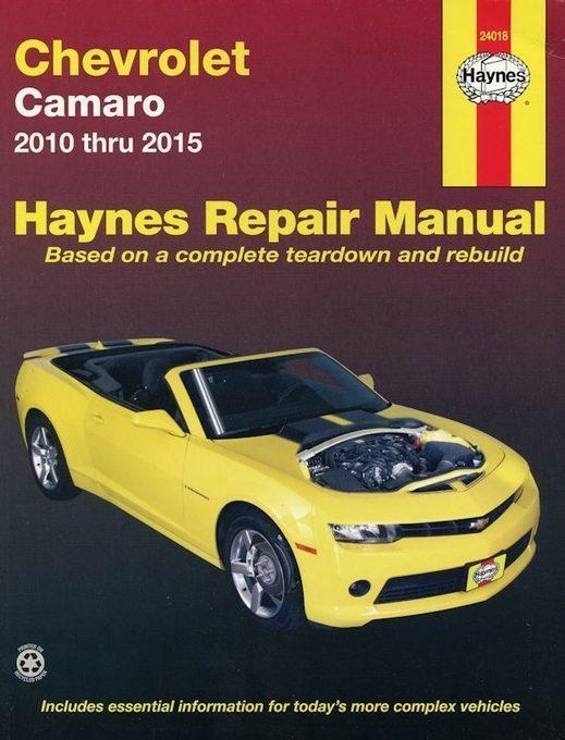 Chevy Camaro Repair Manual: 2010-2015