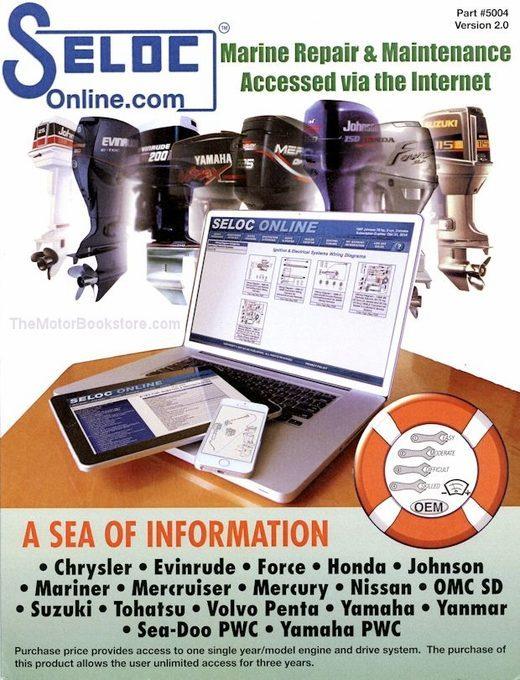 Outboard, Inboard, PWC Engine Repair Manual (Online): 1962-2015