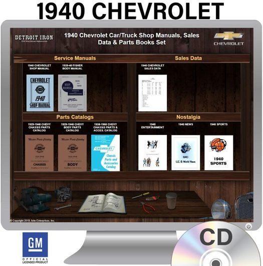 1940 Chevrolet OEM Manuals - CD