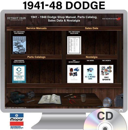 1941-1948 Dodge OEM Manuals - CD