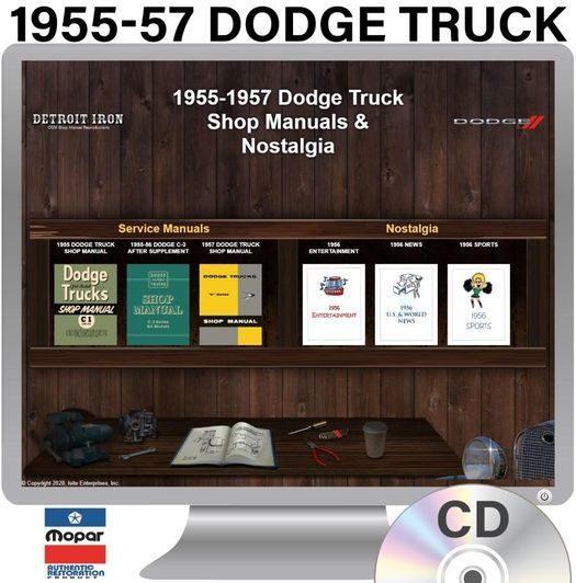 1955-1957 Dodge Truck OEM Manuals - CD