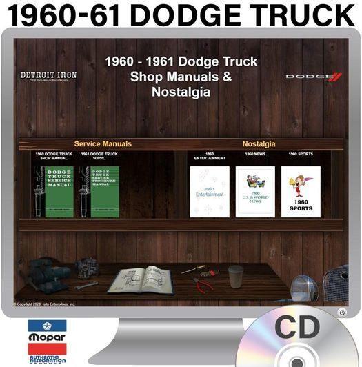 1960-1961 Dodge Truck OEM Manuals - CD