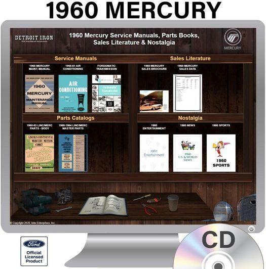1960 Mercury OEM Manuals - CD
